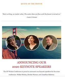 New Look for San Francisco Writers Conference Newsletter