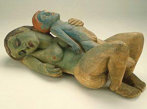 """Sleeping Woman with Boy,"" Hermann Scherer, 1926."
