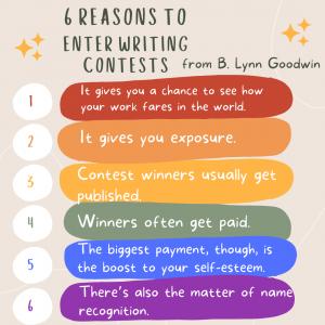 Reasons to enter writing contests B. Lynn Goodwin